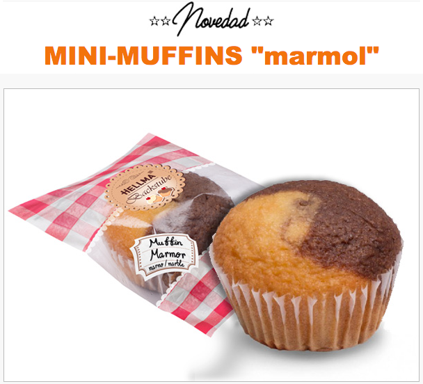 """Mini-mufins """"marmol"""""""